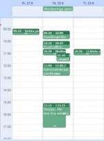 Nedēļas plāns