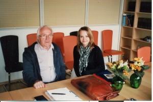Juris Beķeris un Dace Langenfelde Kaltenkirhenē, 2009.gada pavasarī