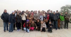 Projekta dalībnieki, iepazīstot Budapeštu