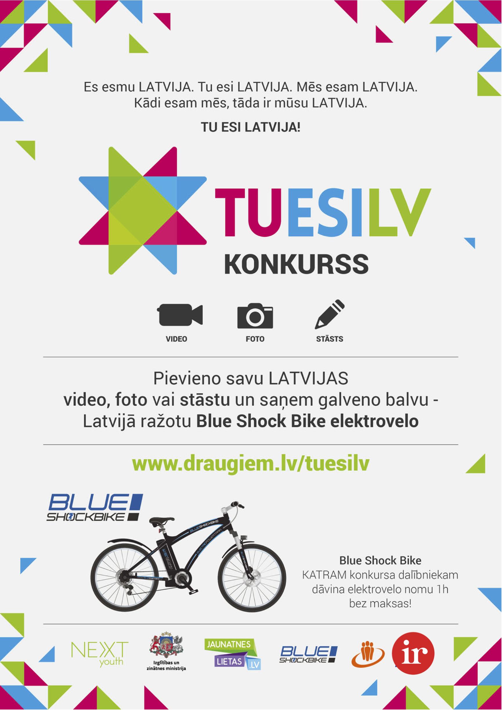 TUESILV konkursa plakāts