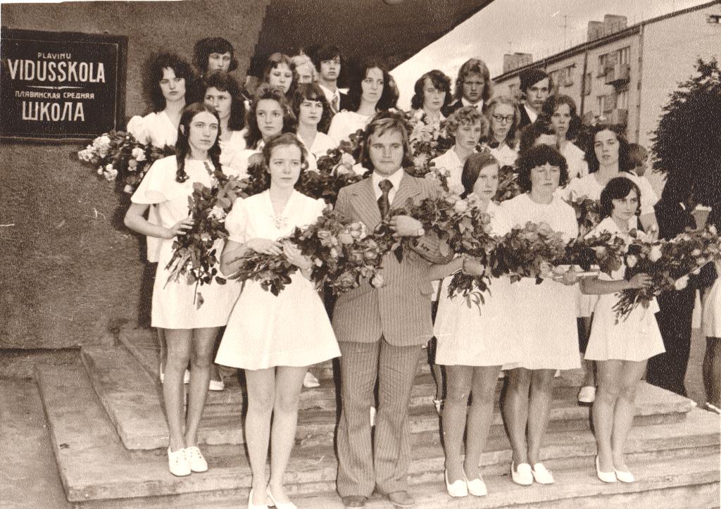 11 klases izlaidums 1975. g. kl.audz.Māris Siliņš